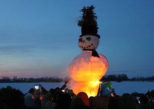 burning snowman